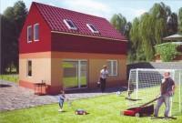 moderní nový rodinný dům